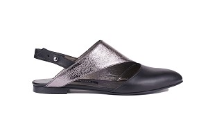 Twig Sandals Black Metallic